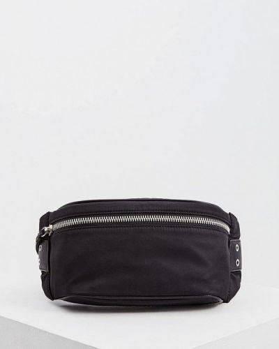 Черная поясная сумка с помпоном Allsaints