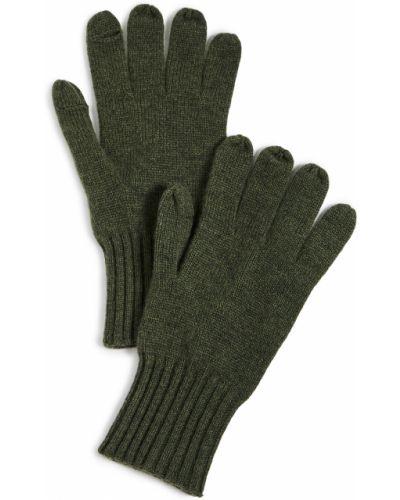 Кашемировые зеленые перчатки Carolina Amato