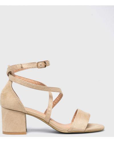 Сандалии на каблуке текстильные Answear