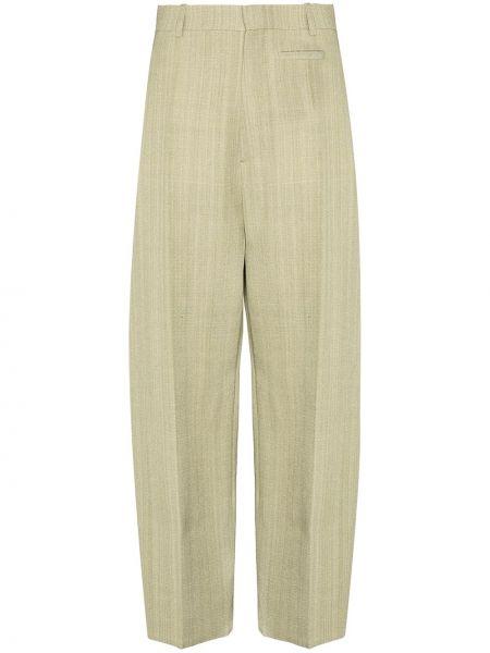 Spodni bawełna zielony bawełna spodnie Jacquemus
