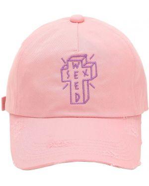 Różowy kapelusz z haftem Azs Tokyo