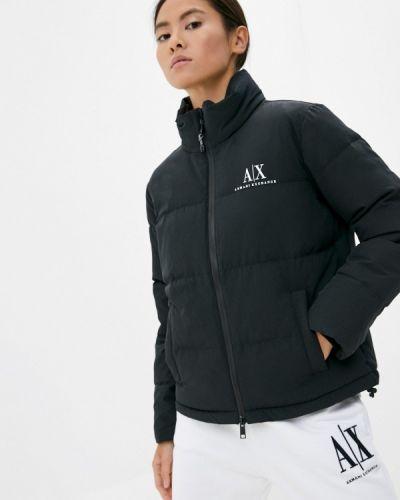 Черная куртка утепленная Armani Exchange