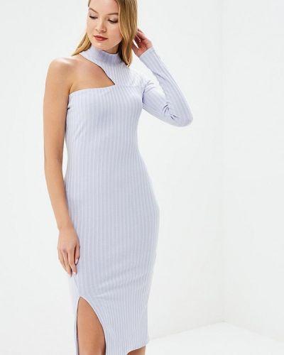 Платье с открытыми плечами фиолетовый Ribbon