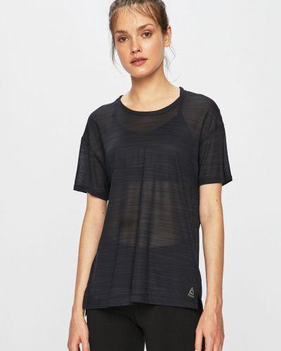 Футболка футболка-сетка черная Reebok