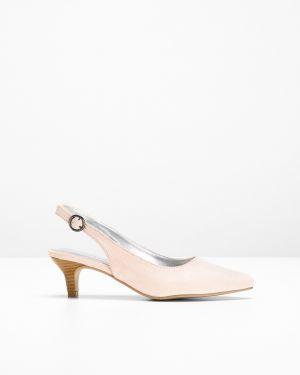 Туфли на каблуке с открытой пяткой лодочки Bonprix