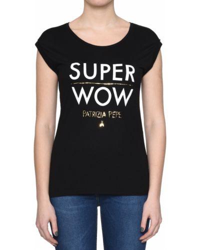 Черная футболка из вискозы Patrizia Pepe
