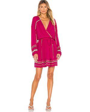 Розовое платье мини свободного кроя с вышивкой Free People