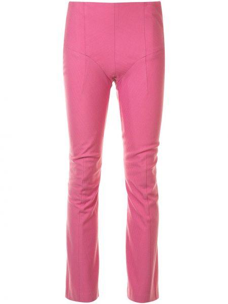 Шерстяные розовые брюки узкого кроя с потайной застежкой Junya Watanabe Comme Des Garçons Pre-owned