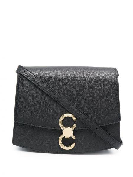 Czarna torba na ramię skórzana Cafuné