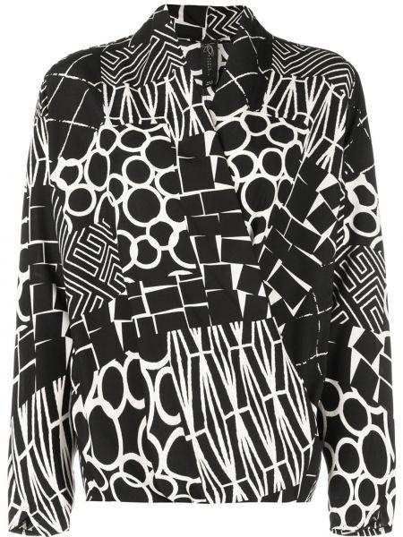Шелковая блузка - черная Zero + Maria Cornejo