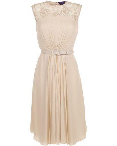 Платье мини с цветочным принтом шелковое Ralph Lauren