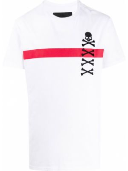 Koszula krótkie z krótkim rękawem z haftem z nadrukiem Philipp Plein
