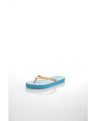 Голубые шлепанцы пляжные Gulliver