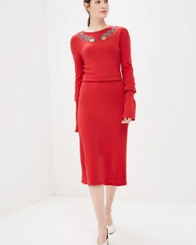 Красное платье с длинными рукавами Akhmadullina Dreams