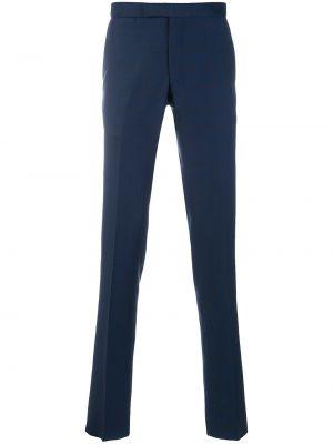 Niebieskie spodnie wełniane Fashion Clinic Timeless
