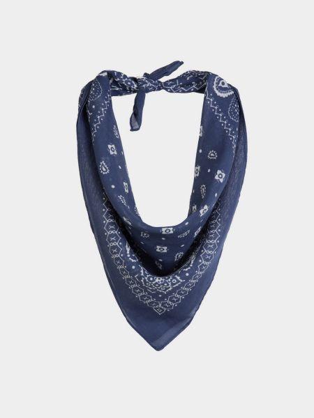 Хлопковый синий шарф Colin's