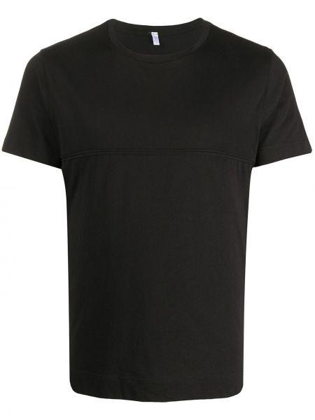 Хлопковая черная футболка свободного кроя с круглым вырезом Cenere Gb