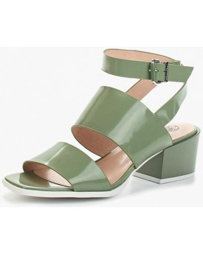 Зеленые босоножки на каблуке Ekonika