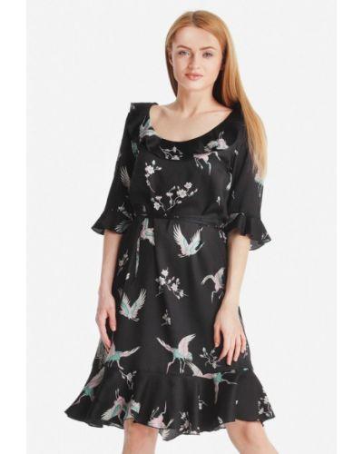 Черное платье миди Artwizard
