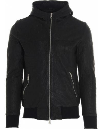 Czarny płaszcz Giorgio Brato