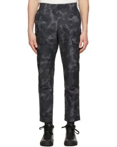 Spodni czarny bojówki z kieszeniami z mankietami Rag & Bone