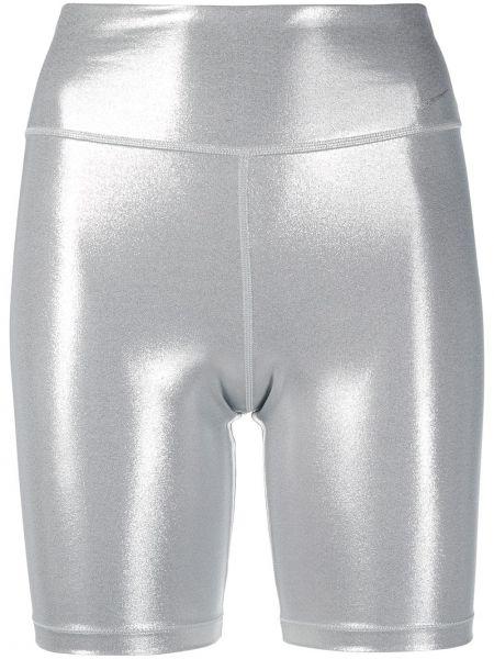 Серебряные с завышенной талией шорты стрейч Nike