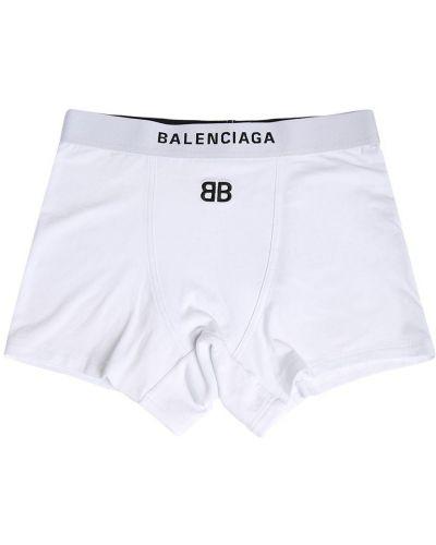 Białe spodenki sportowe bawełniane Balenciaga