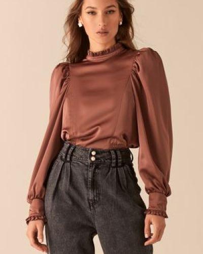 С рукавами блузка с воротником на резинке Love Republic