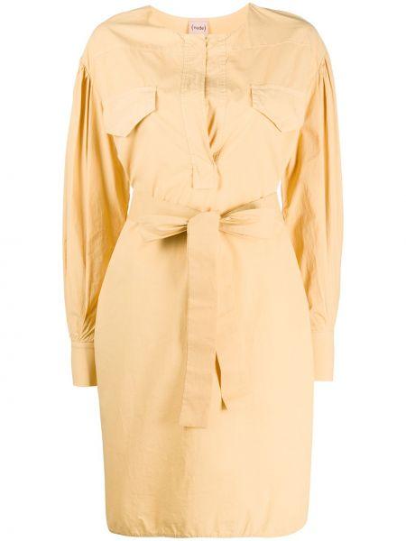 Платье с поясом на пуговицах платье-рубашка Nude
