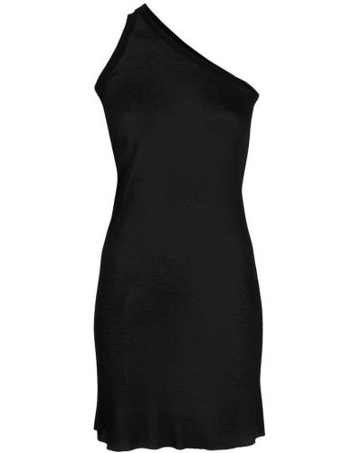 Czarna koszula z wiskozy Rick Owens
