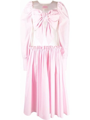 Różowa sukienka z długimi rękawami Viktor & Rolf