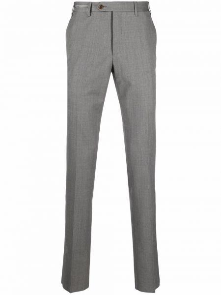 Серые шерстяные брюки Corneliani