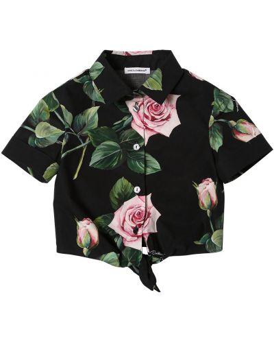 Рубашка с принтом с завязками Dolce & Gabbana