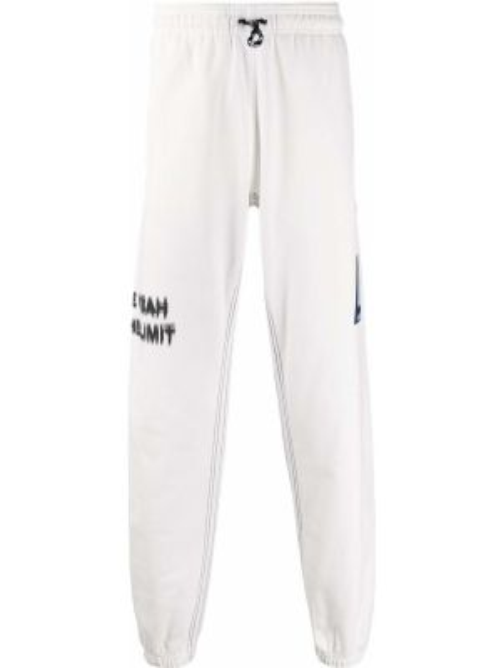 Хлопковые спортивные брюки - белые Adidas Originals By Alexander Wang
