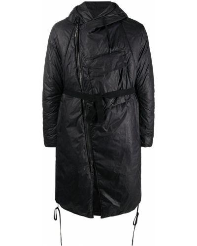 Asymetryczny czarny płaszcz przeciwdeszczowy z długimi rękawami od płaszcza przeciwdeszczowego Masnada