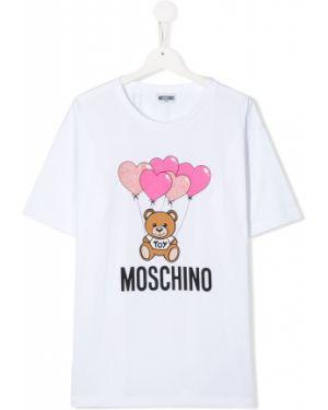 Белая рубашка стрейч Moschino