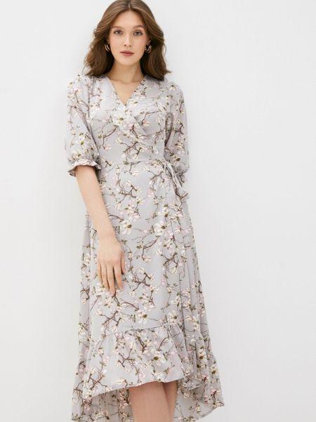 Платье с запахом серое Imocean