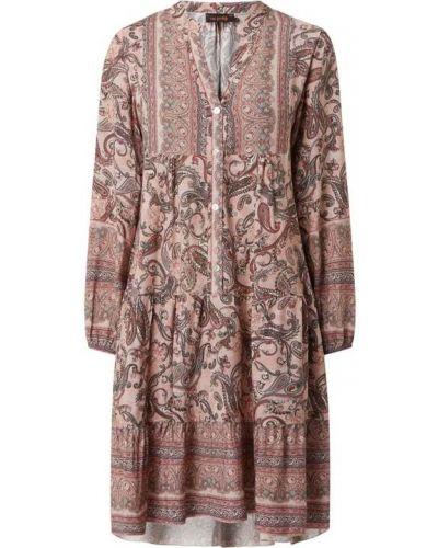 Sukienka rozkloszowana z długimi rękawami - różowa Miss Goodlife