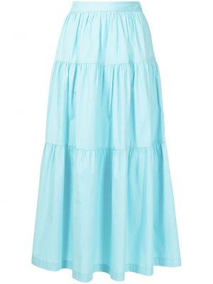 Niebieska spódnica maxi bawełniana Staud