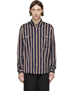 Черная рубашка с воротником с нашивками с манжетами Schnaydermans