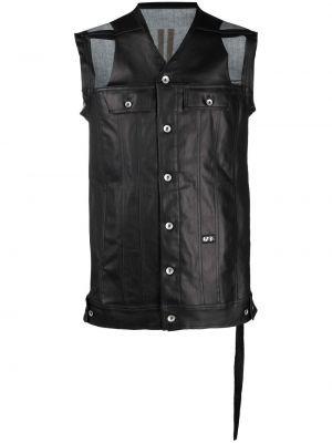 Czarna kurtka bawełniana bez rękawów Rick Owens