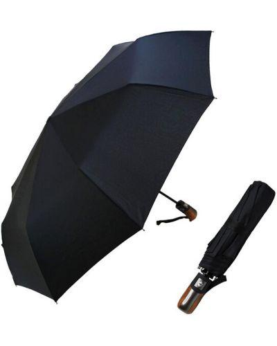 Прямой черный автоматический зонт Max