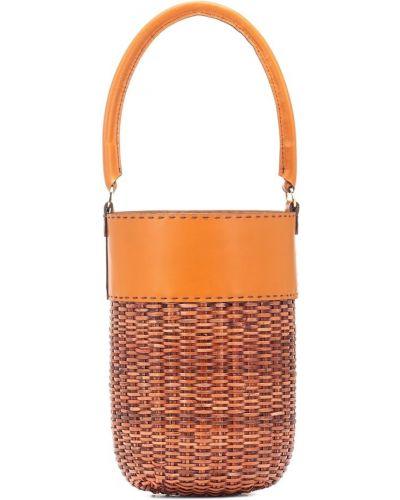 Pomarańczowa torebka skórzana Kayu