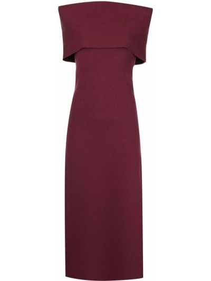 Fioletowa sukienka z wiskozy Altuzarra