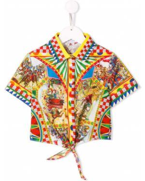 Рубашка короткий с принтом Dolce & Gabbana Kids