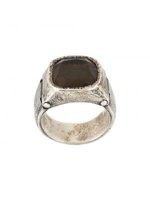Pierścień czarny srebro Tobias Wistisen