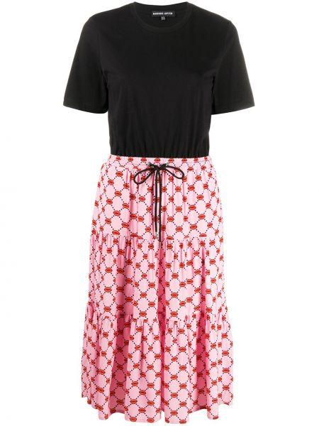 Хлопковое платье миди - черное Markus Lupfer