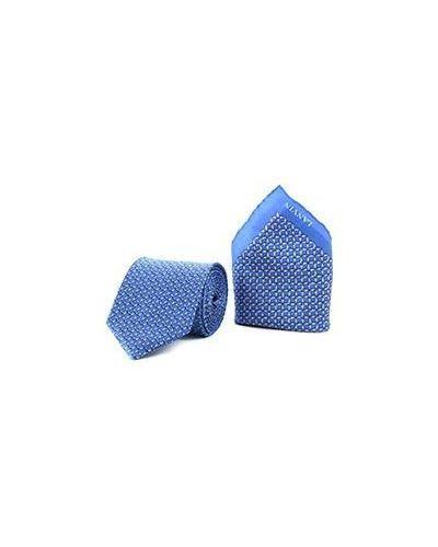 Галстук синий Lanvin