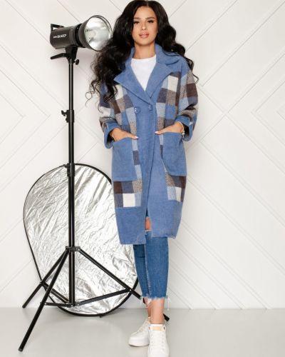 Пальто из альпаки - голубое Rozetka