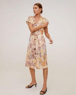 Платье мини миди на пуговицах Mango